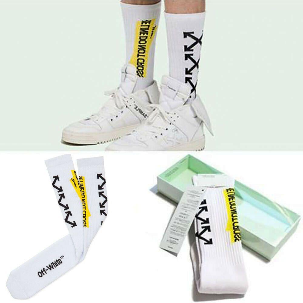 Mens Athletic Cushion Crew Sock Color Shark Beach Long Sock Breathable