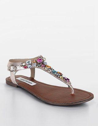 STEVE MADDEN Groom Jeweled Sandals via Lord & Taylor