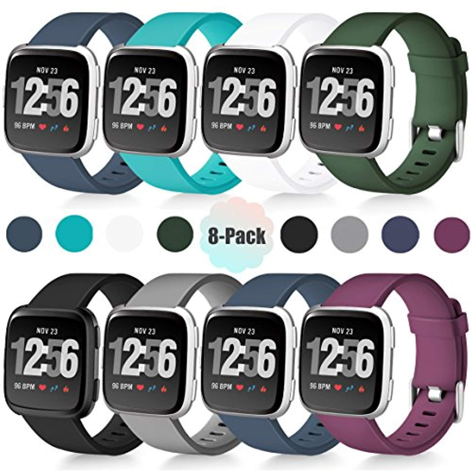 Maledan For Fitbit Versa Bands Classic Wristband Replacement
