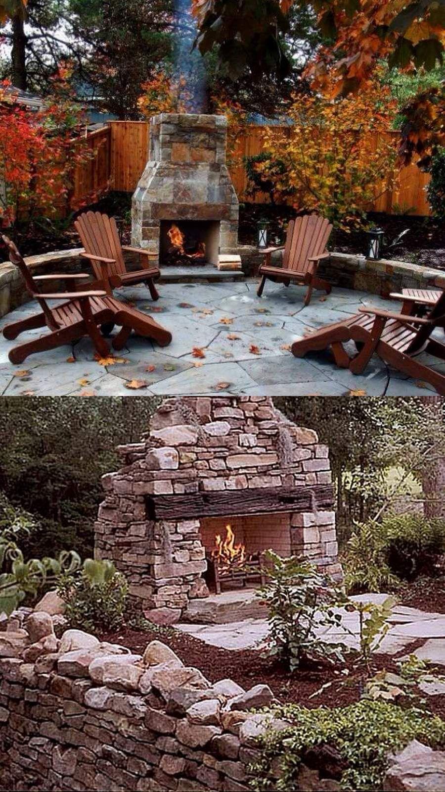 Amazing outdoor fireplace designs part backyard pinterest