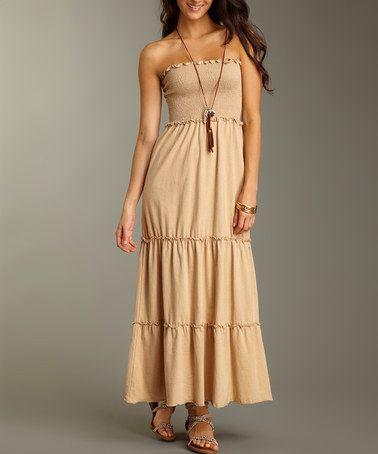 35590472acc Take a look at this Natural Brown Rio Organic Maxi Dress by Jonäno Looks so  comfortable