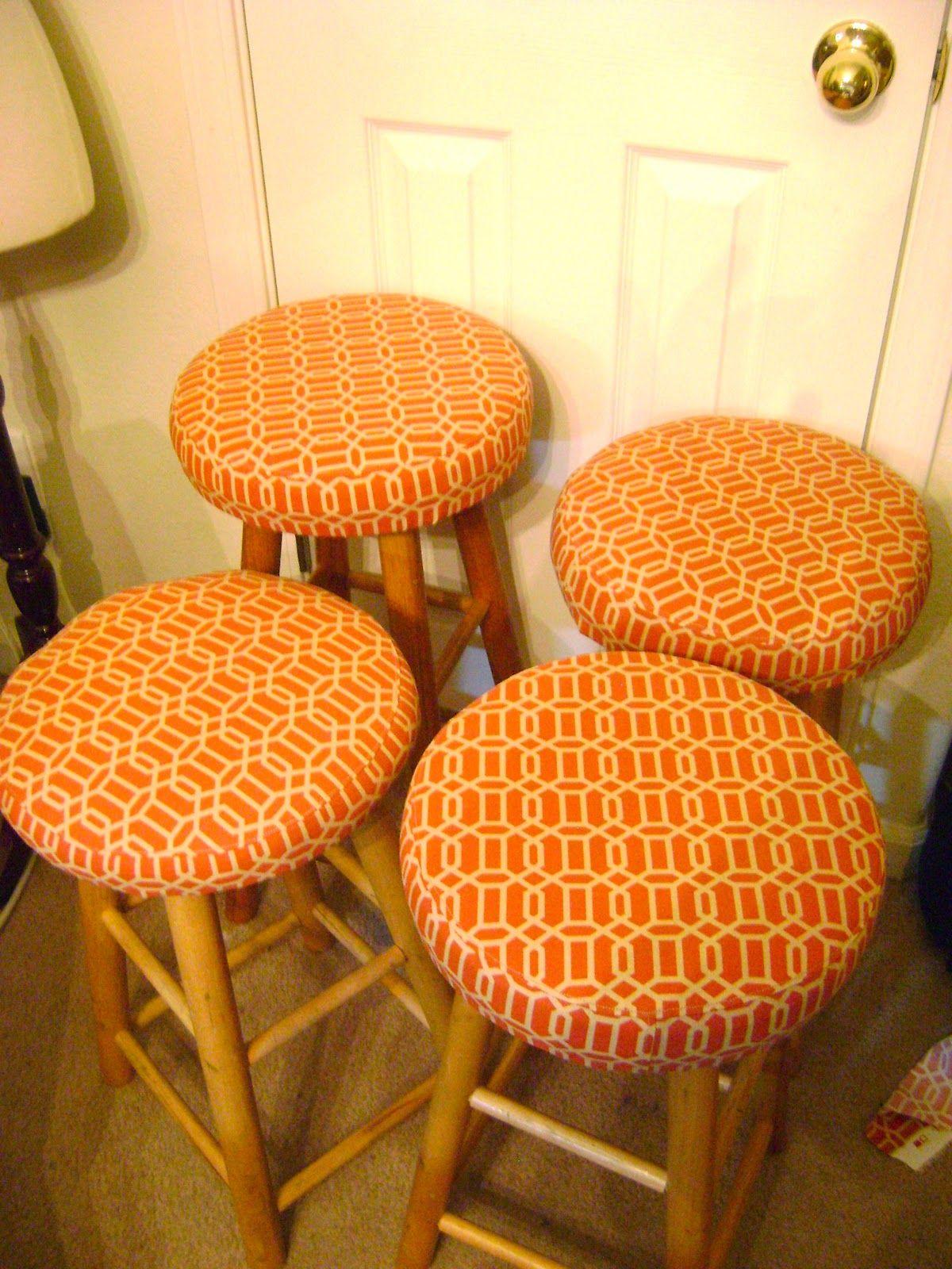 Goosegirl Sews Reupholstered Bar Stools With Tutorial