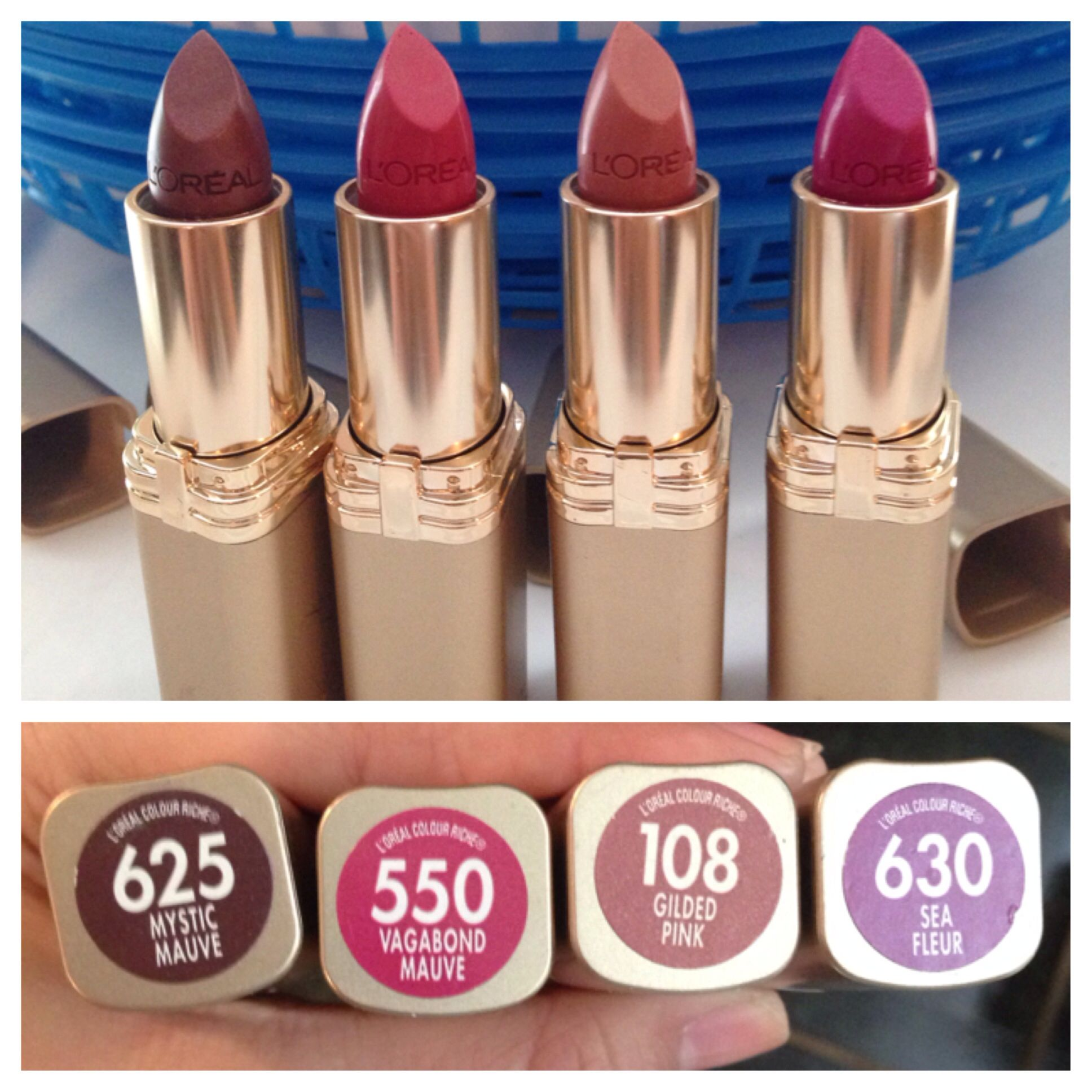 Loreal lipsticks shade names shown in picture NEW | Pretty ...