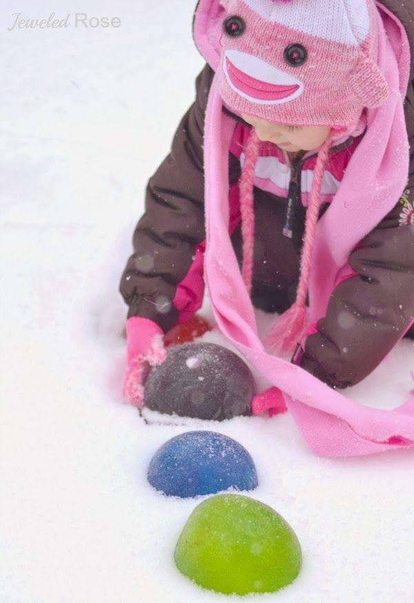 Make snow jewels for super Winter fun
