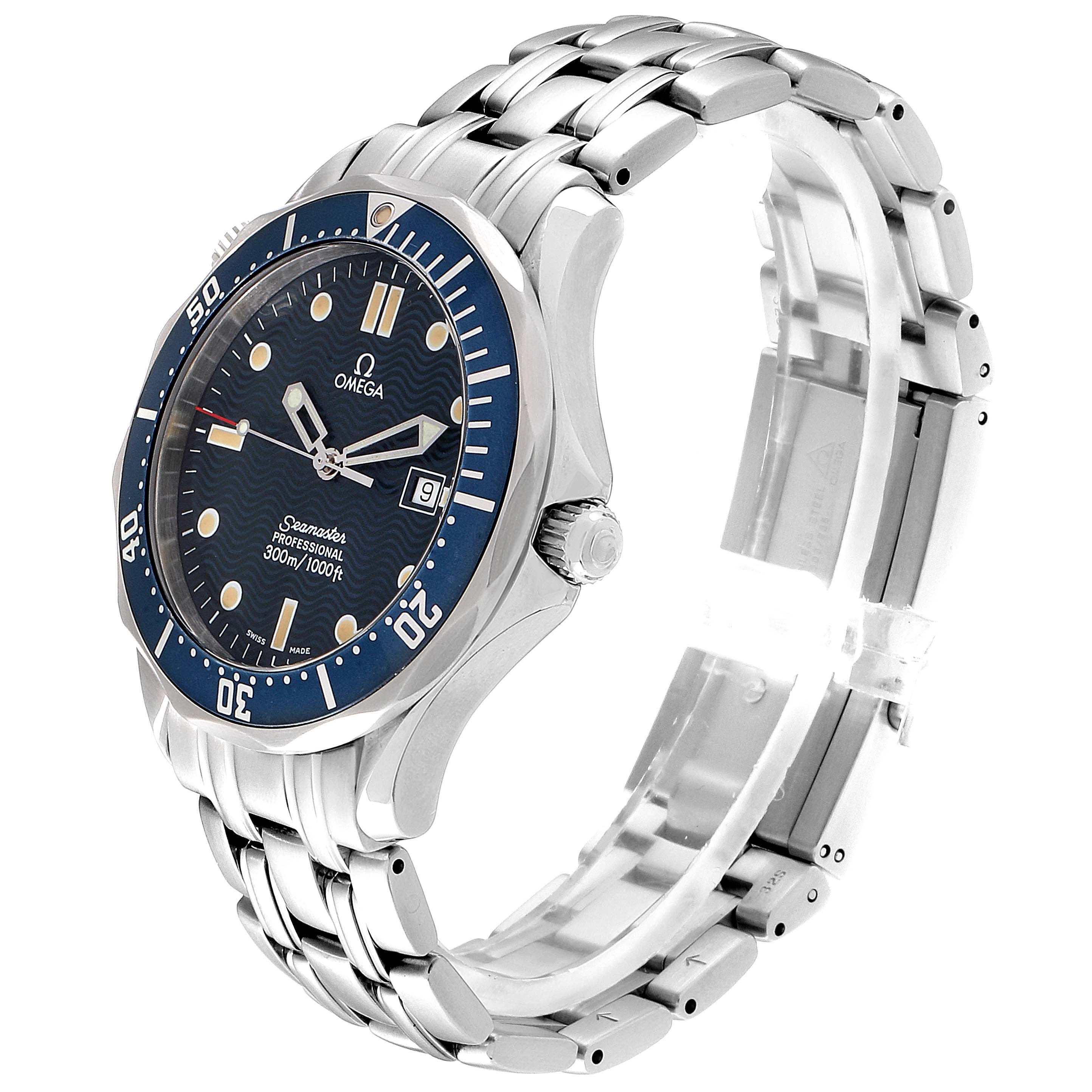 Omega Seamaster 41mm James Bond Blue Dial Steel Watch 2541