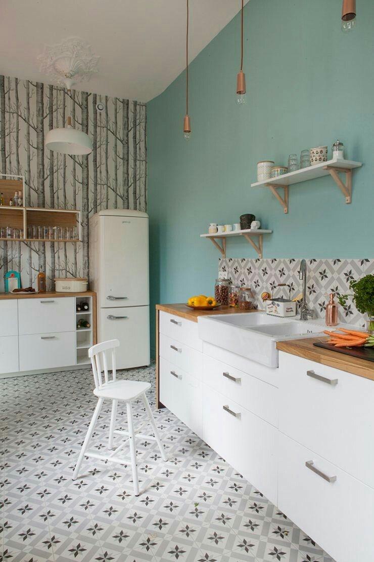 Bezaubernd Wandfarbe Küche Galerie Von Türkise Für Die Küche. Www.kolorat.de #kolorat #wandfarbe