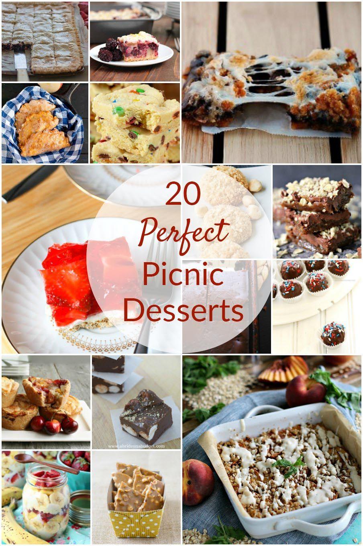 20 Perfect Picnic Desserts #familypicnicfoods