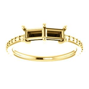 14kt Yellow 5x3mm Straight Baguette Ring Mounting