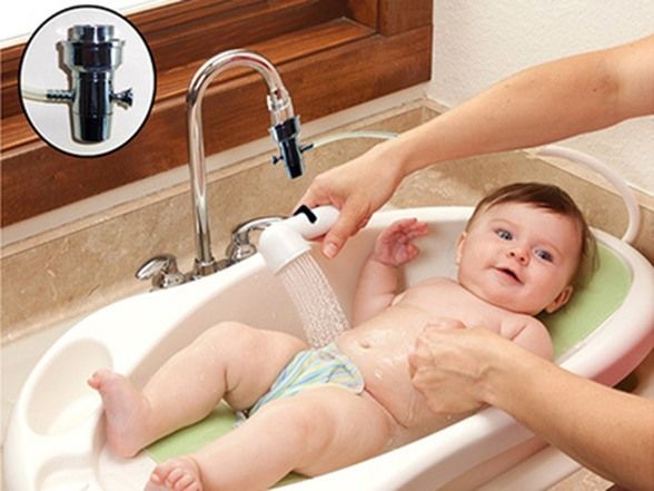 baby sink rinser portable shower head kidswoot