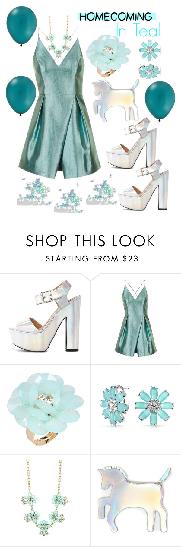 """""""Homecoming in Teal👗"""" by mdfletch ❤ liked on Polyvore featuring Topshop, Dettagli, Bling Jewelry, J.Crew, WithChic and homecominginteal"""