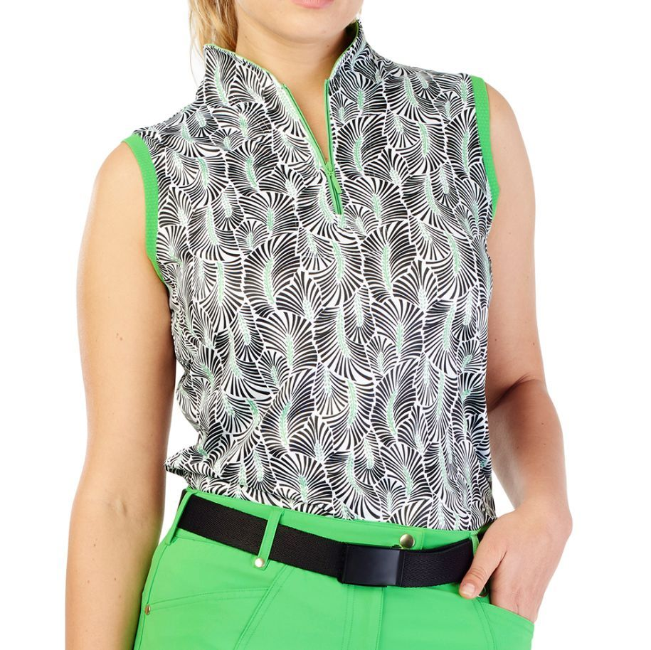 696387fa GG Blue Sadie Sleeveless Mock | Products | Golf shirts, Golf outfit ...