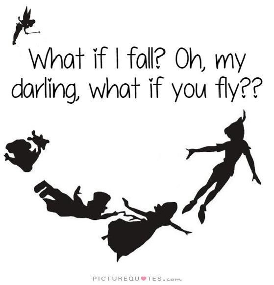 Kids Boys Girls WHAT IF I FALL OH MY DARLING WHAT IF YOU FLY T-Shirt peter pan