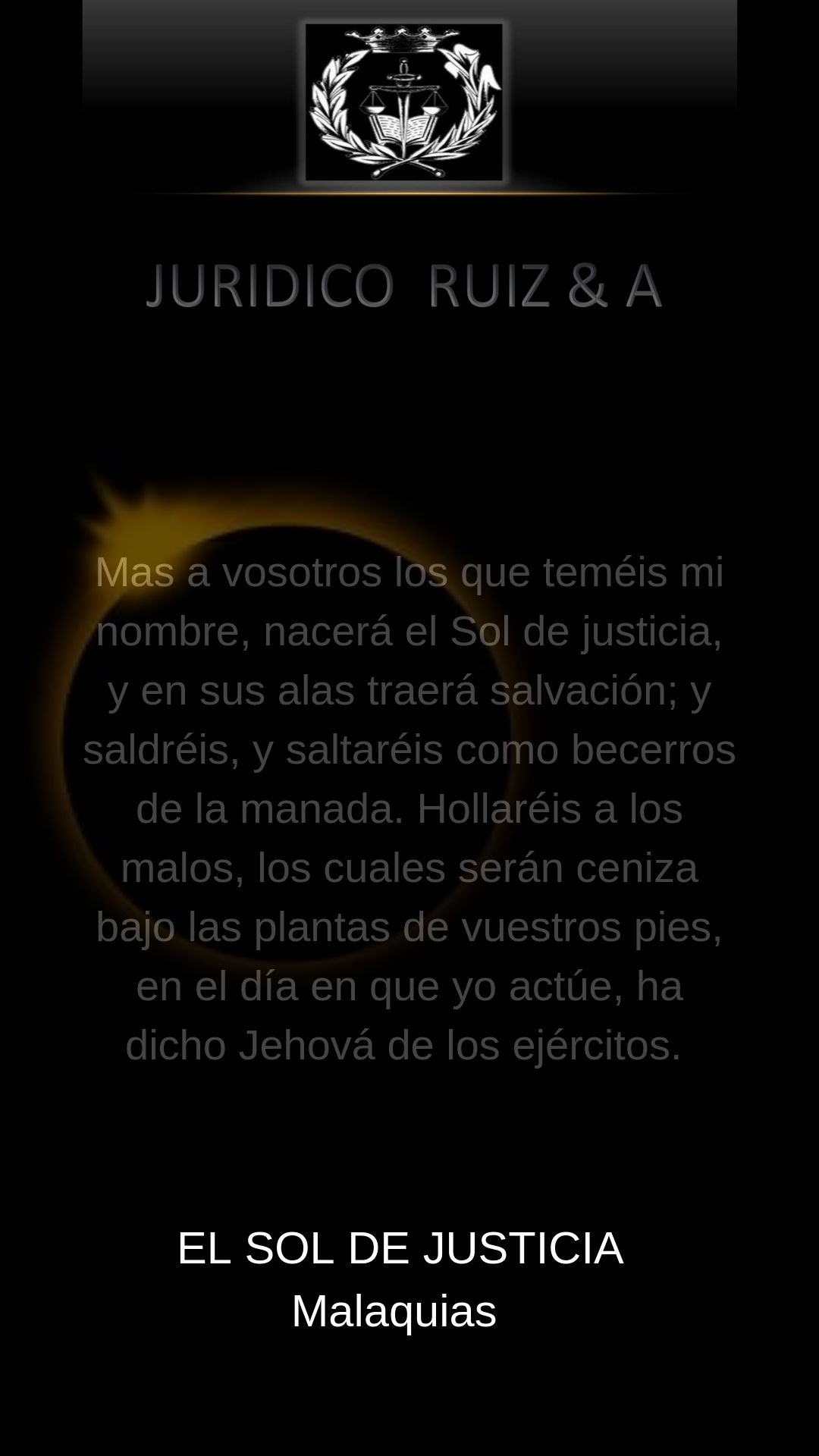 El Sol De Justicia Sol De Justicia Malaquias Nombres