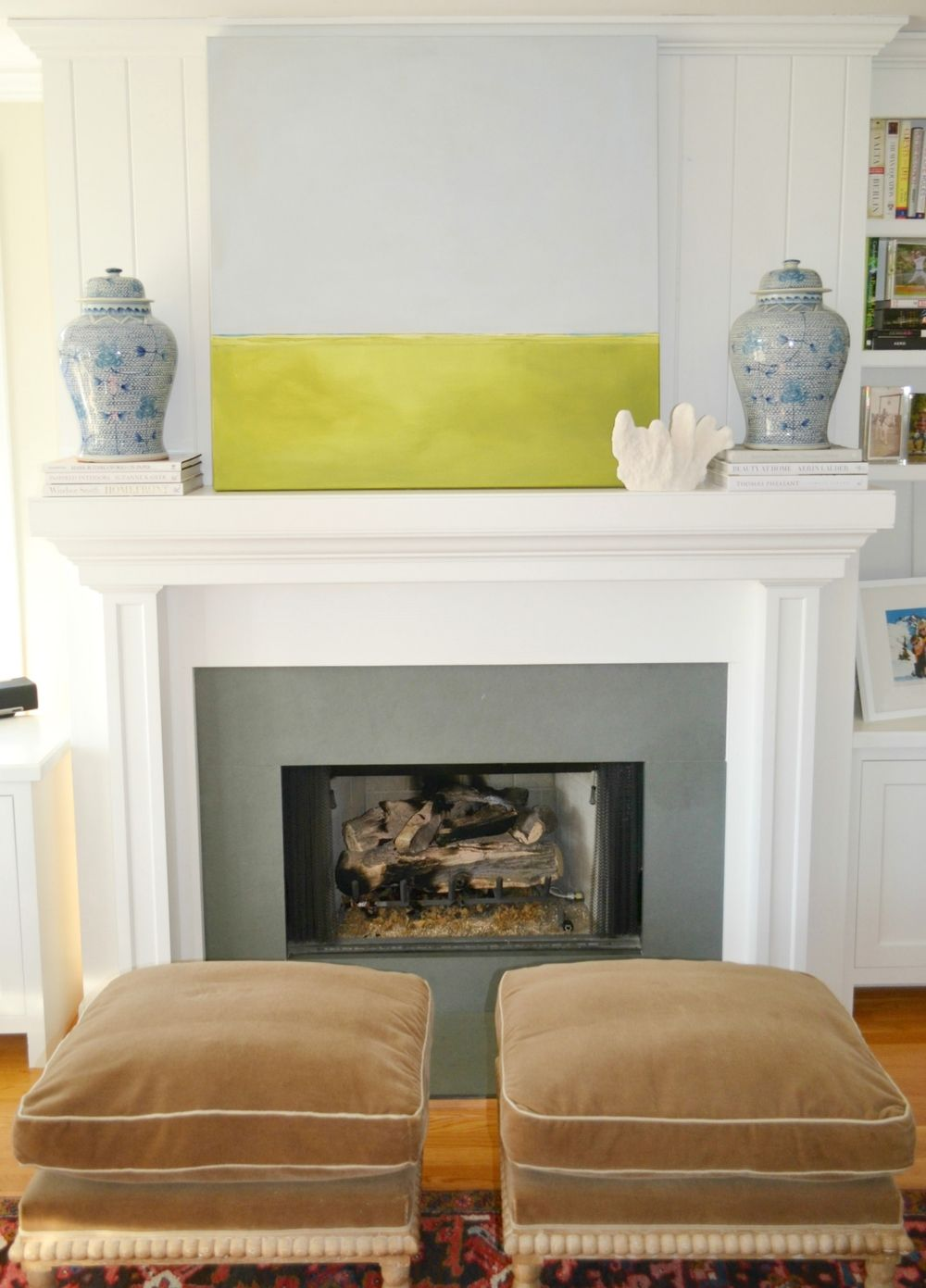 Project design how to style your spring mantle two ways mantle