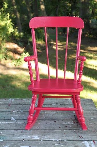 Jenny Lind Style Childu0027s Pink Rocking Chair By PointBreezeCottage