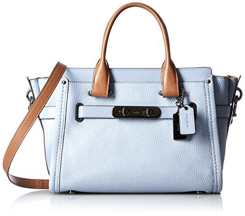 #OutfitOfTheDay #Styles #COACH Women's Colorblock Coach Swagger 27 DK/Cornflower Multi Satchel