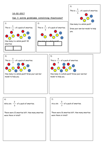 solve math problems fractions