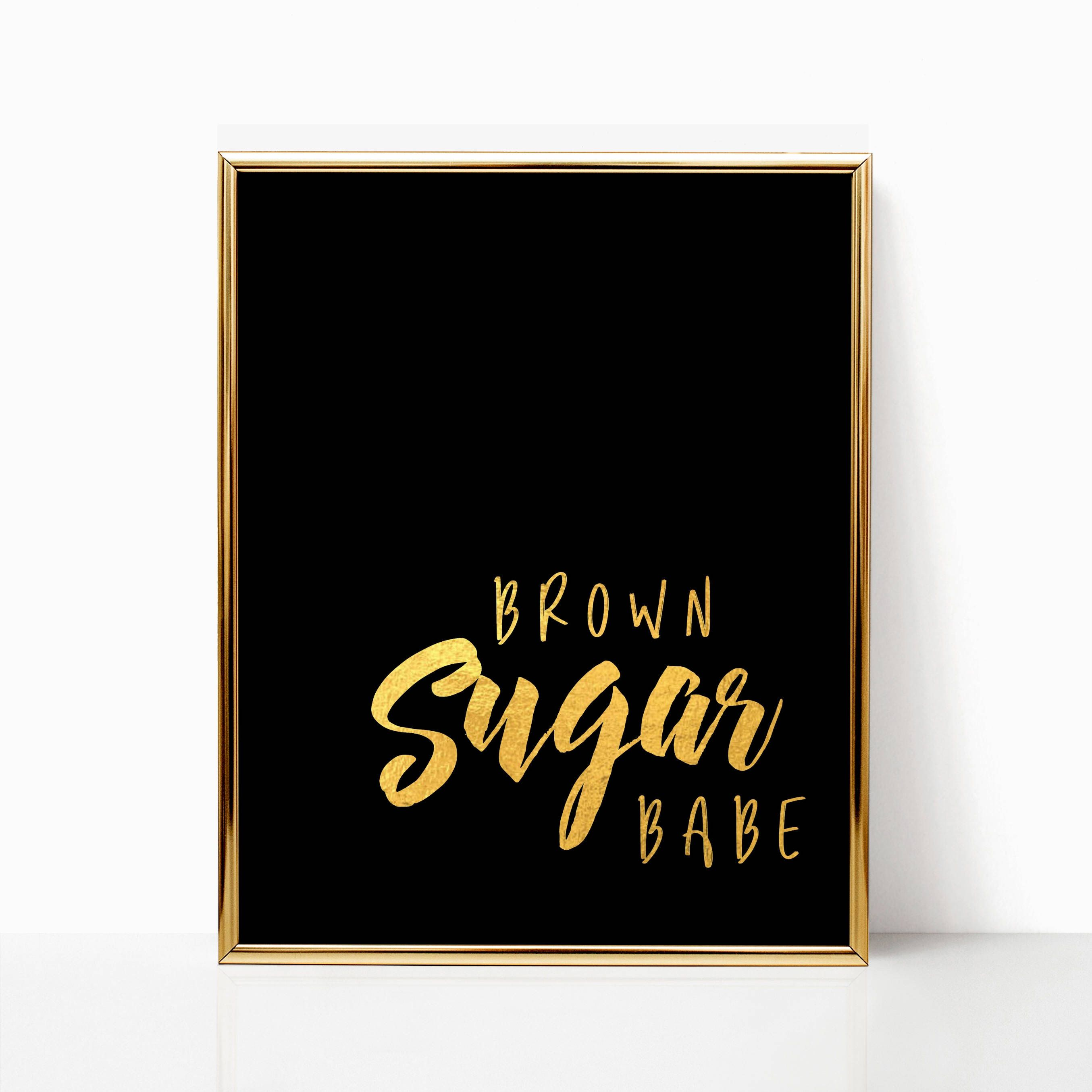 Wall Art Black Girl Magic Melanin Unicorn Queen Gift For Her Home Decor Black Gold Gift For Women Download Print Brown Sugar Babe Black Girl Quotes Black Is Beautiful Quotes Black