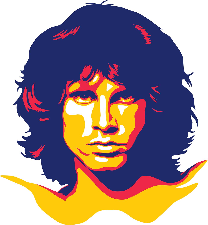 Jim Morrison Retratos Arte Pop Ilustracion Musical Rostros De Arte