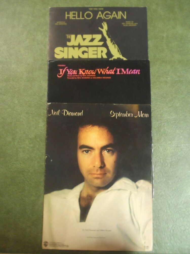Sheet Music LOT OF 3 NEIL DIAMOND Hello Again Jazz Singer