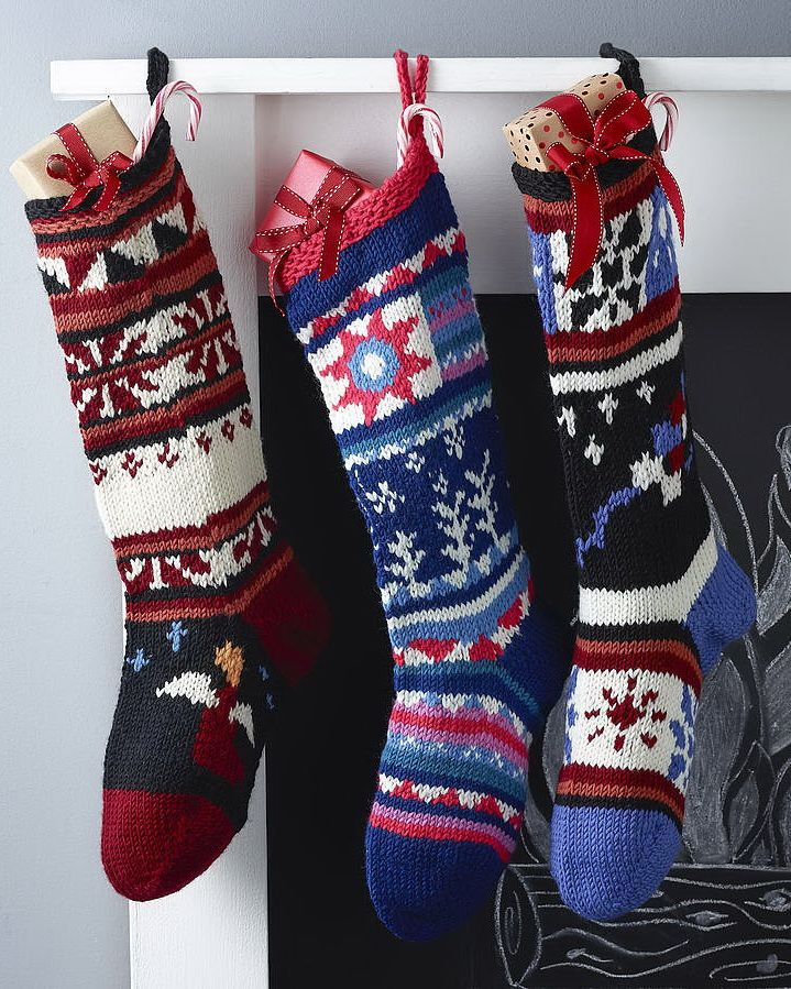 50 Beautiful Christmas Stocking Ideas And Inspirations Knitted
