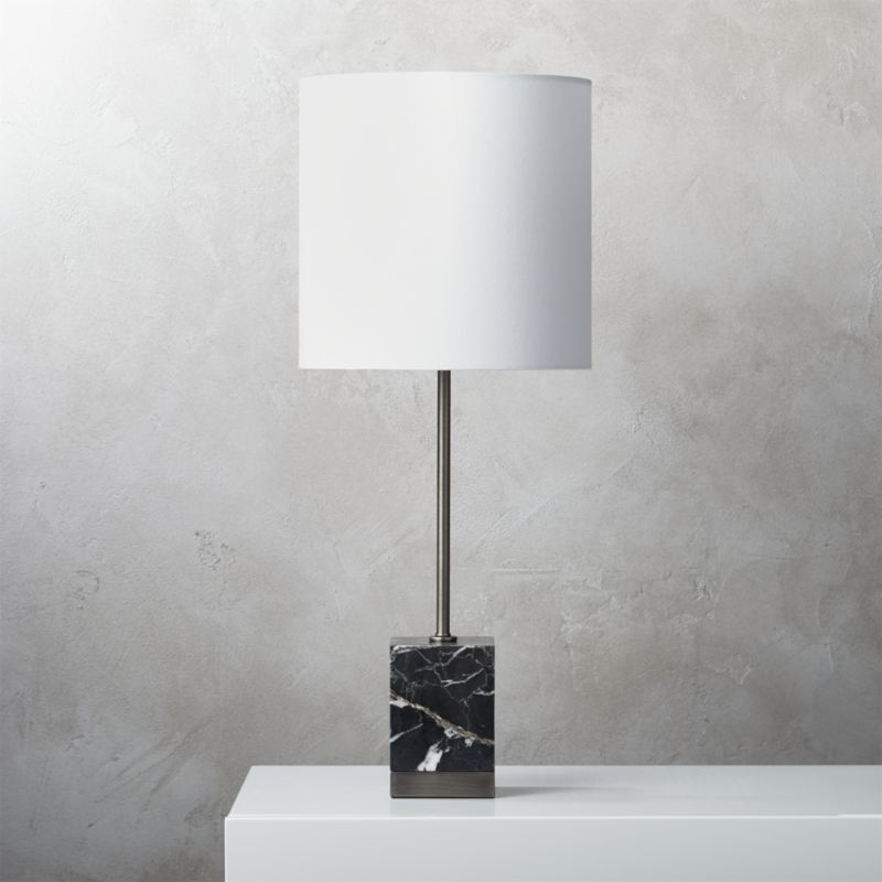 Free Shipping Shop Sharp Black Marble Table Lamp Block Of Modern Black Marble Anchors Table Lamp Base Givin Marble Table Lamp Marble Table Modern Table Lamp
