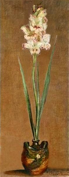 Gladiolus, 1881 by Claude Monet. Impressionism. flower painting