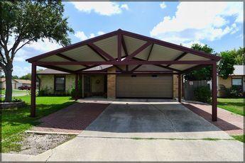Free Standing Steel Carport Pictures- Kirby Job - San Antonio Texas ...