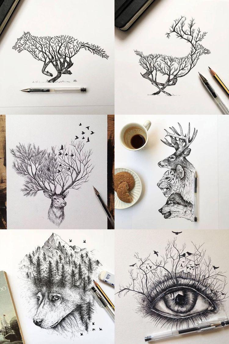 Use pencil alfred basha animal pencil drawings pencil drawings of nature drawing animals
