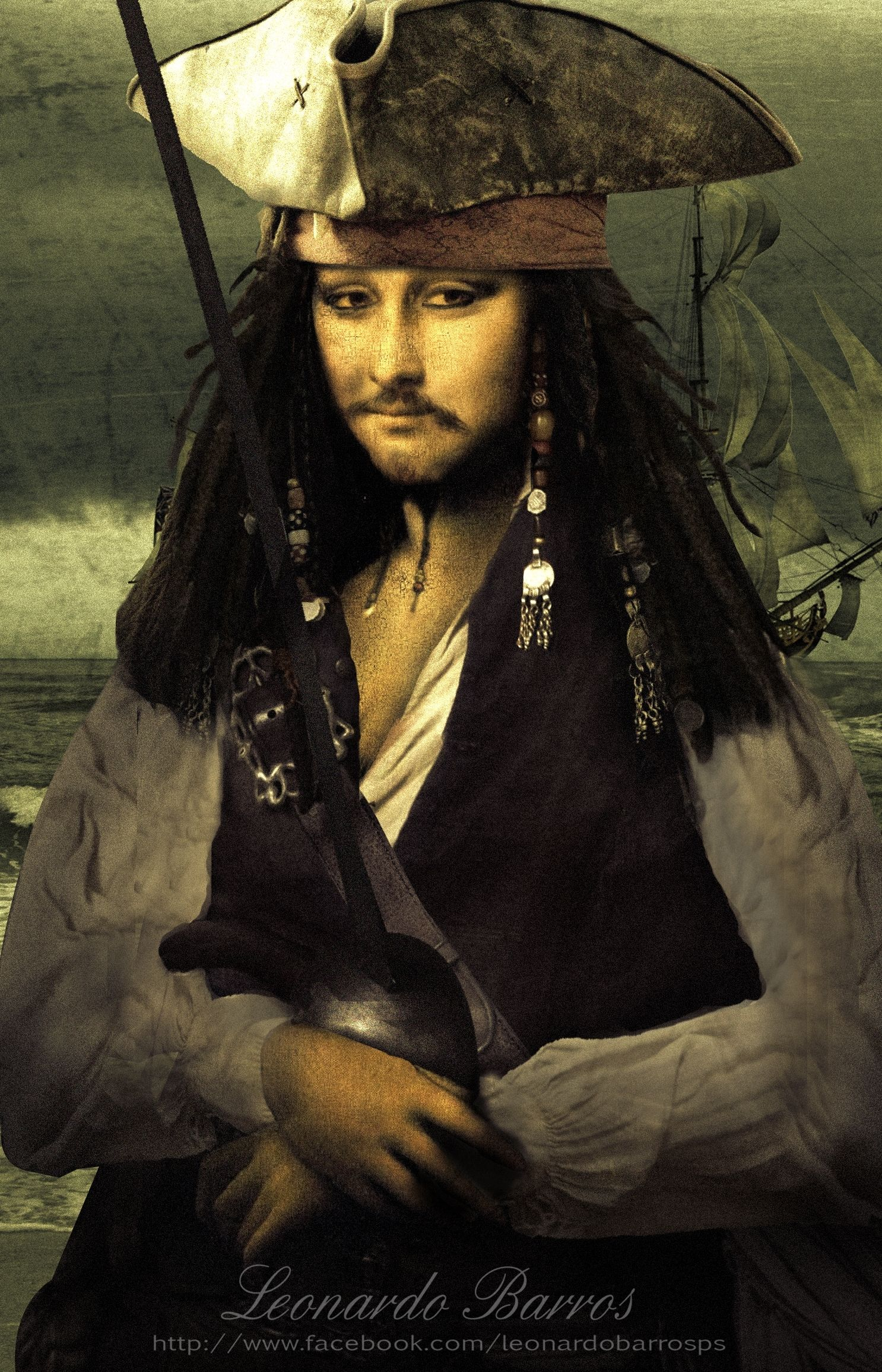 Mona Lisa Pirate of the Caribbean