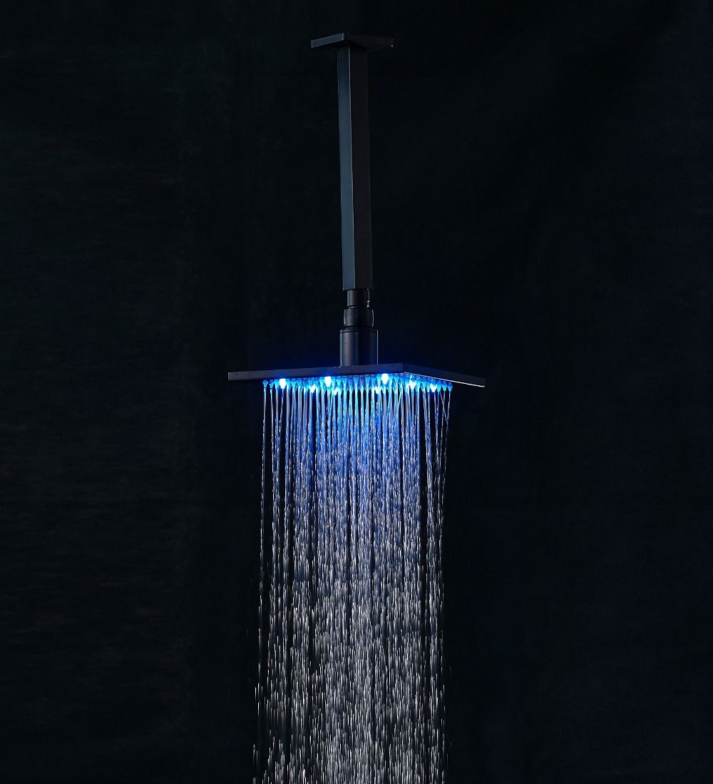 Luxury Oil Rubbed Bronze 8 Quot Square Rain Shower Head Faucet