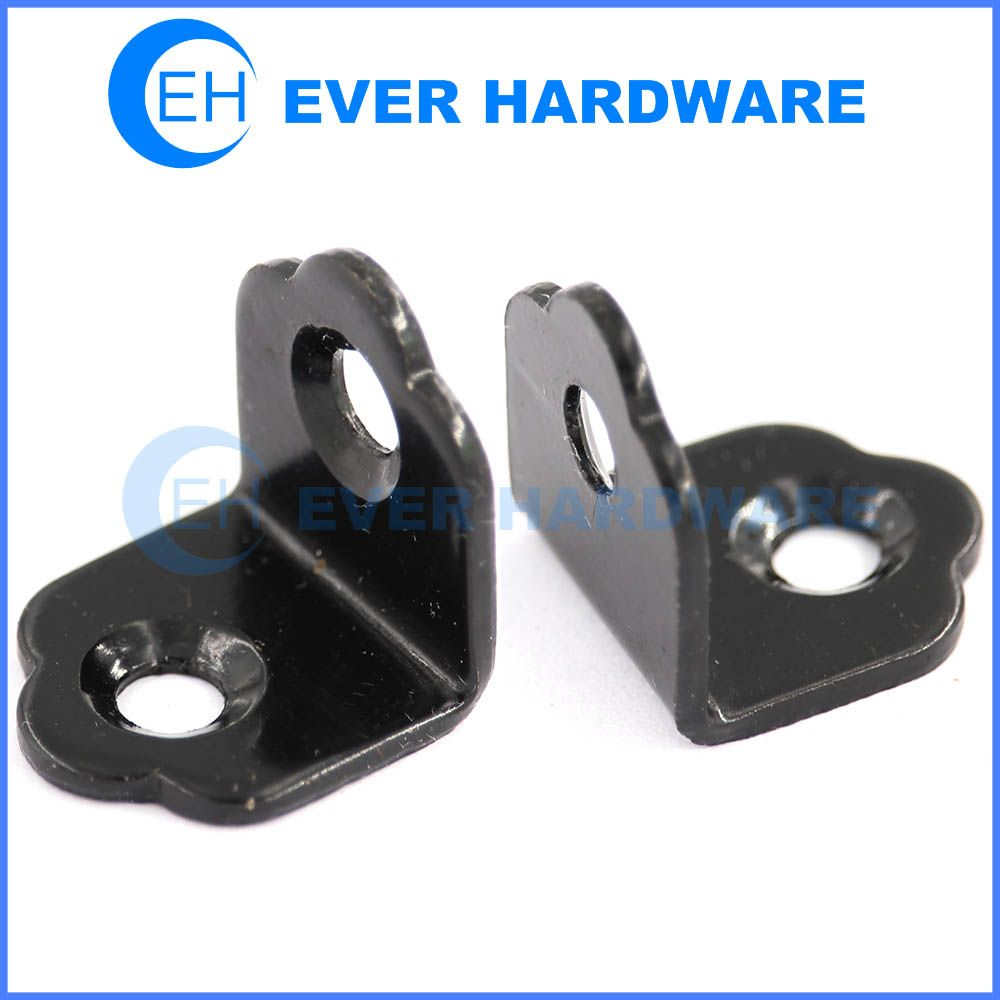 Support angle brackets black plated metal l brackets for shelves ...