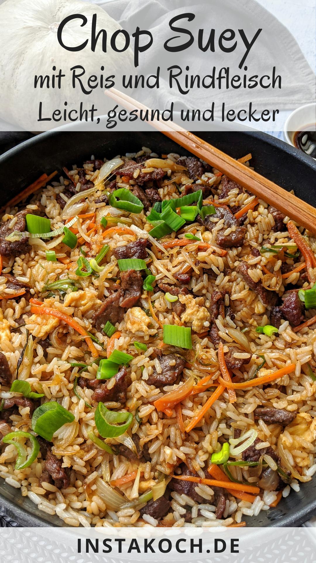 Photo of Chop Suey mit Reis und Rindfleisch – Leicht und lecker – Klick dich zum einfachen Rezept