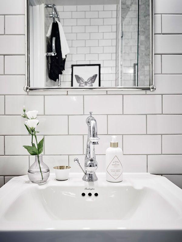 Påkostat badrum i marmor och krom ‹ Dansk inredning och design ...