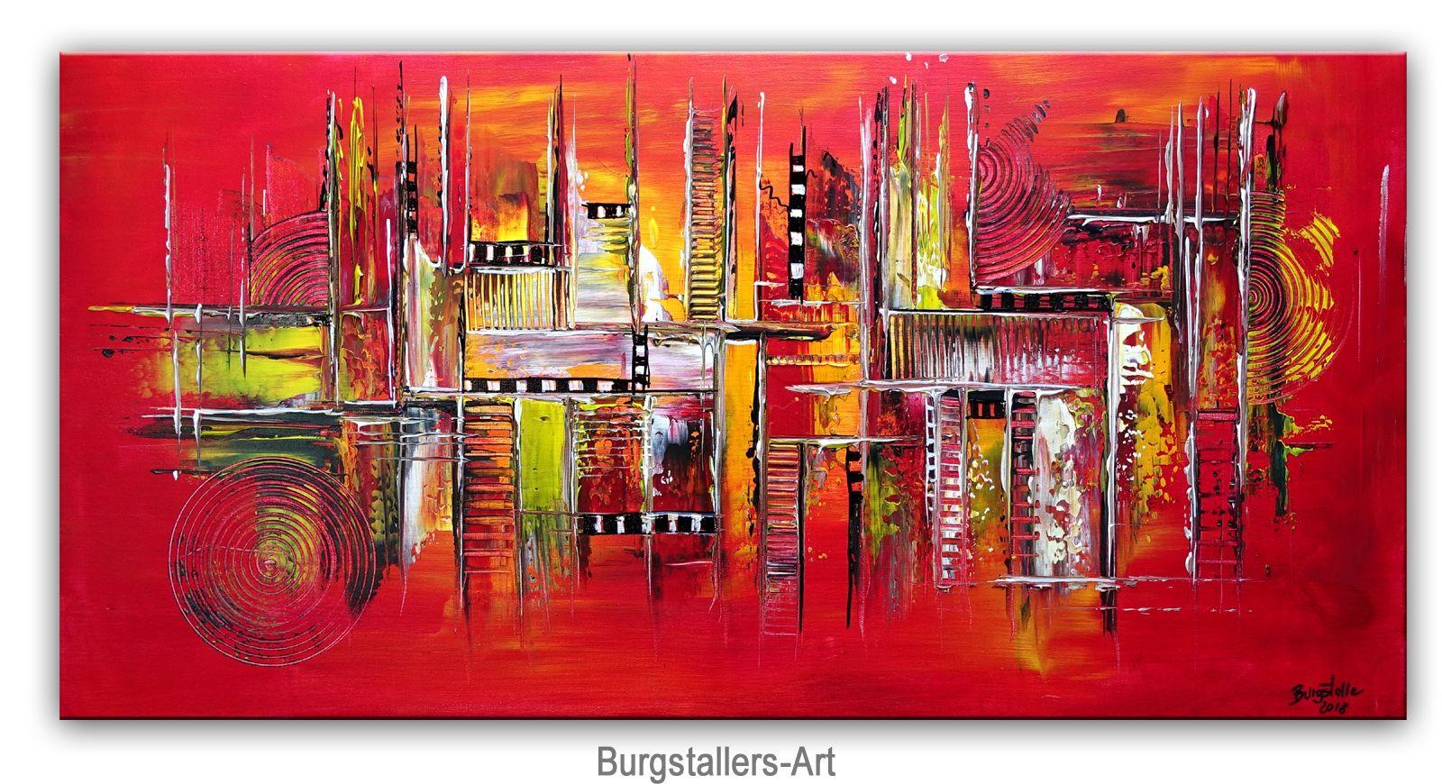 levels 50x100 rot gelb abstrakte malerei kunst wandbild querformat abstrakt gelbe moderne amerikanische maler gemälde
