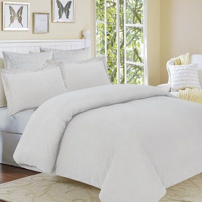 Alcott Hill Clarks Row 3 Piece Reversible Duvet Set Color: Silver Grey, Size: Queen