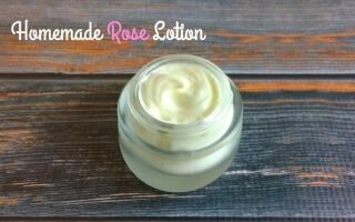 Homemade Rose Lotion Recipe