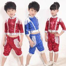 De los niños ropa del funcionamiento trajes para niñas y los niños realizan  danza moderna del Hip Hop ropa venta al por mayor(China (Mainland)) edcf313691b