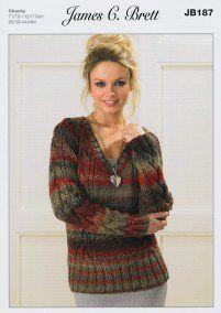 3facb25503186 Sweaters in James C. Brett Marble Chunky (JB187)