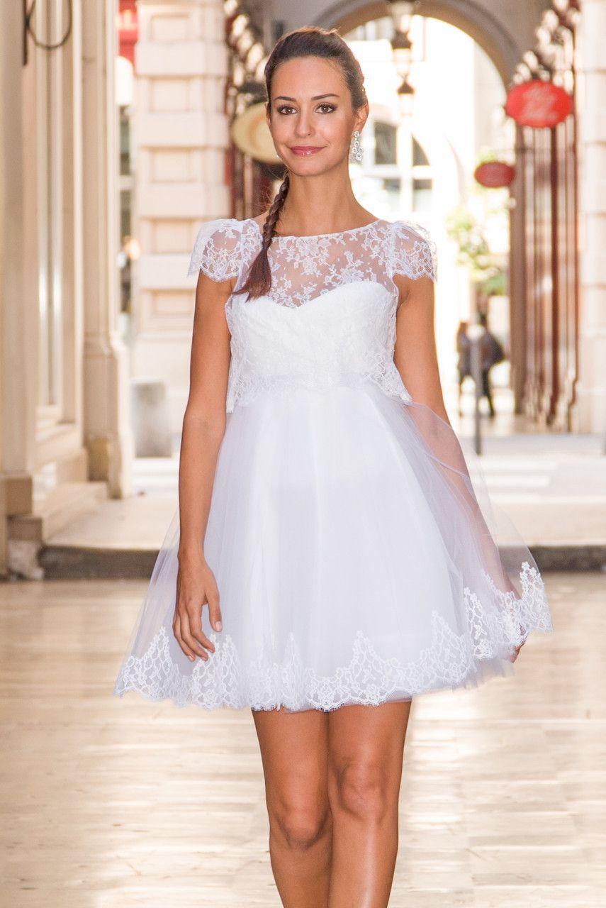robe de mari e sur mesure lyon ludivine guillot robe mari e courte bustier drap. Black Bedroom Furniture Sets. Home Design Ideas