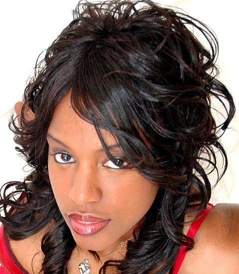 Cute Black Hairstyle Weave African American Women