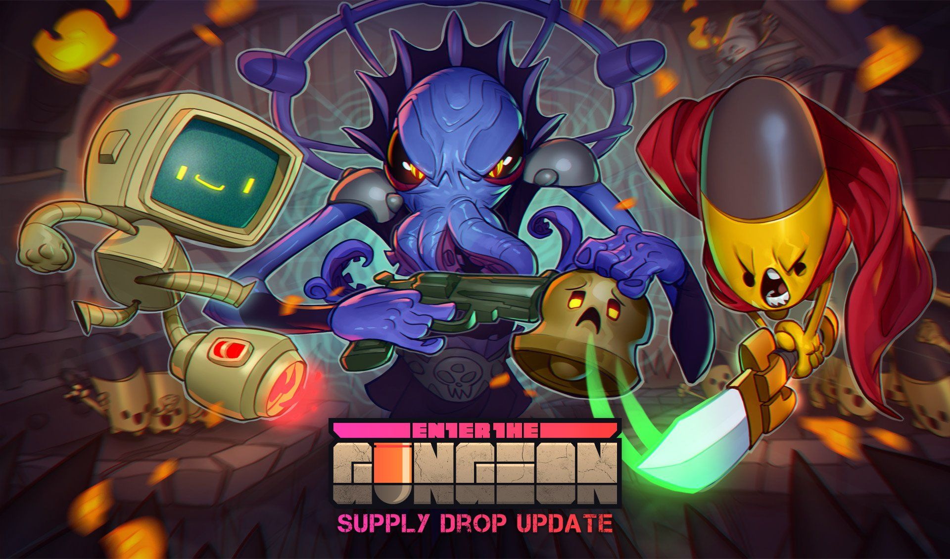 Enter The Gungeon S Free Supply Drop Update Should Bring Me Back In I Got Burned Out By The Progression Loop Of Ente Free Supplies Max Grecke 2017 Wallpaper