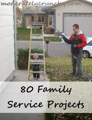 Ultimate service project list for families with link to a - project list