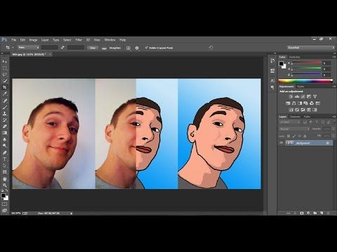 Photoshop CS5 Cartoon Effect Tutorial . Art like a cartoon - YouTube
