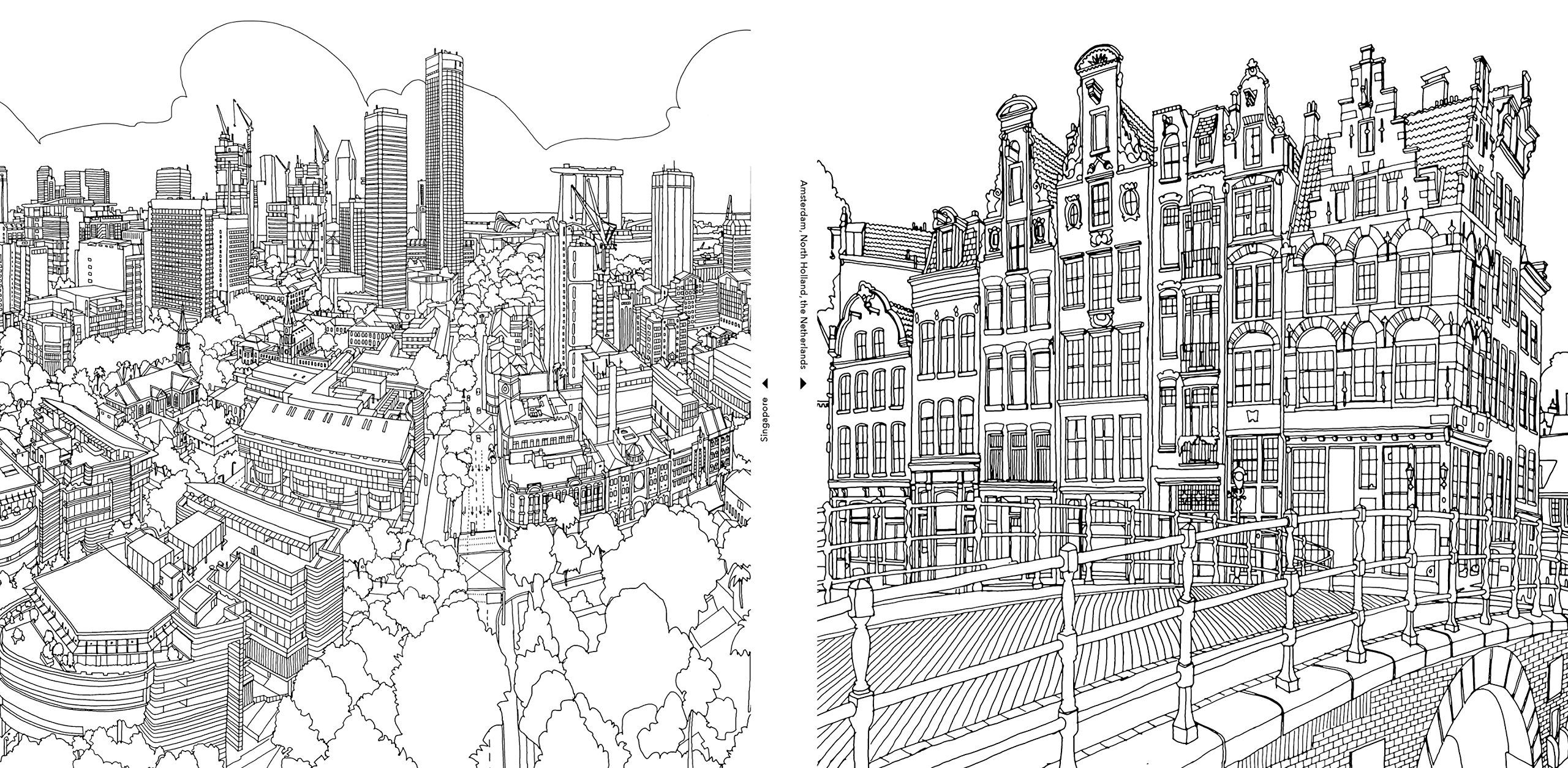 fantastic cities a coloring book of amazing places real and imagined steve mcdonald - City Coloring Pages