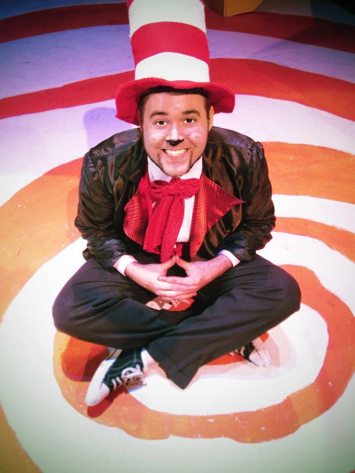 seussical cat in the hat scotty shaffer hair makeup