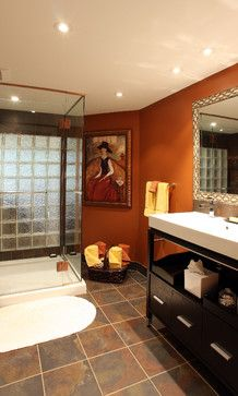 Orange Bathroom Design Pictures Remodel Decor And Ideas Brown Bathroom Decor Orange Bathrooms Orange Bathroom Decor