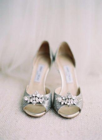 Shoes, Jimmy Choo - North Carolina Wedding http://caratsandcake.com/BeccaandSam