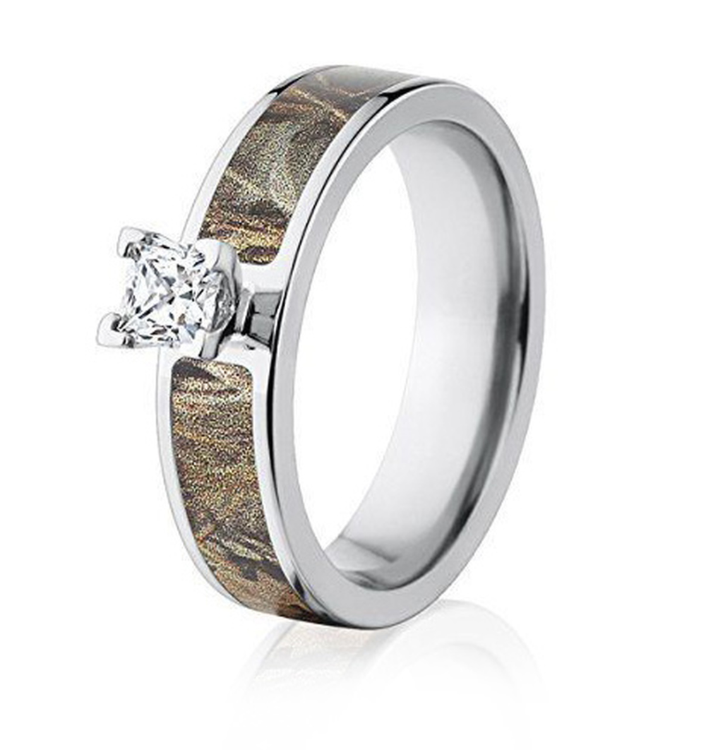 Realtree Max 4 Camo Engagement Ring 1/2CT 6mm in 2020