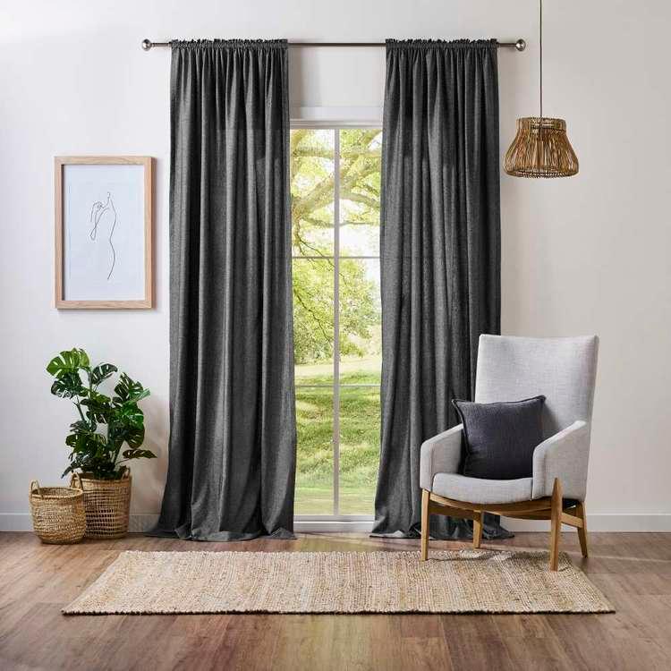 100 Cotton Rod Pocket Curtain In 2020 Black Walls Living Room